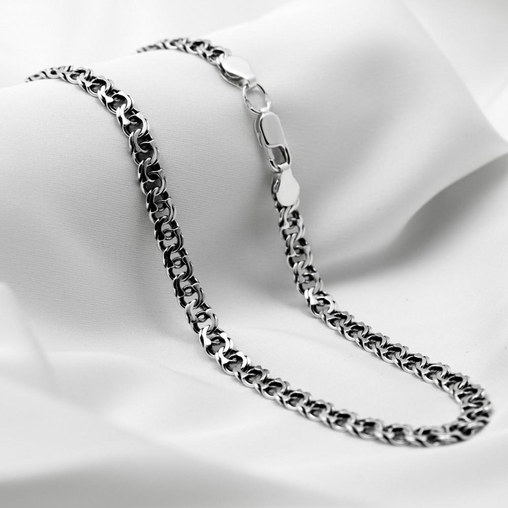 Срібна цепочка - Бісмарк арабський, ширина 5мм, чорнена.