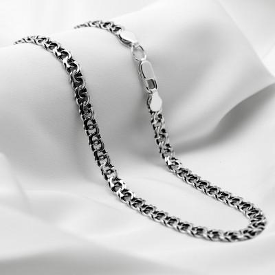 Серебряная цепочка - Бисмарк арабский, ширина 5мм, черненая.