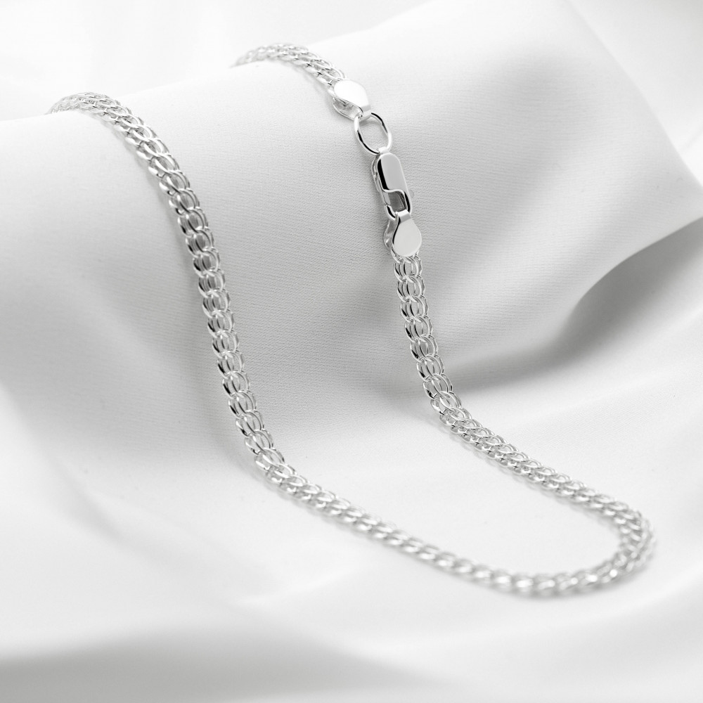 Срібна цепочка - Пітон, ширина 7мм