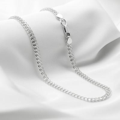 Серебряная цепочка - Питон, ширина 4мм