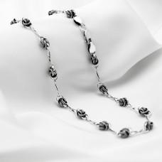 Срібна цепочка - Горіх з вісімками, чорнена.