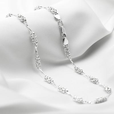 Серебряная цепочка - Мальвина с восьмерками