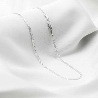 Серебряная цепочка - Якорь двойной, ширина 2мм