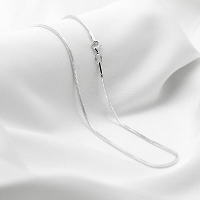 Серебряная цепочка - Снейк квадратный, ширина 2мм