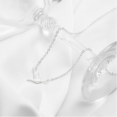 Серебряное колье - Ласточка