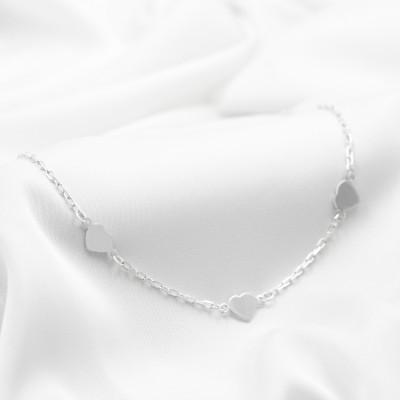 Серебряное колье - Сердечки