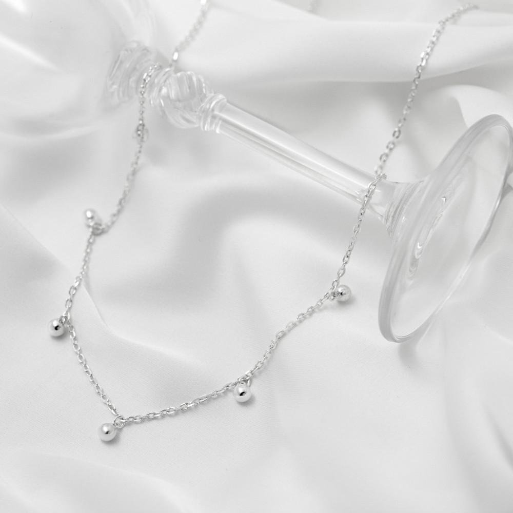 Срібне кольє - Кульки