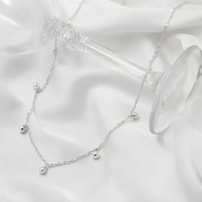 Серебряное колье - Шарики
