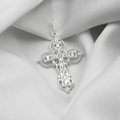 Срібний хрестик - Хрест 025