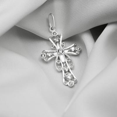 Срібний хрестик - Хрест 076