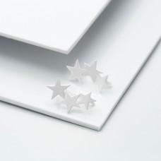 Срібні сережки-кафи - Космос