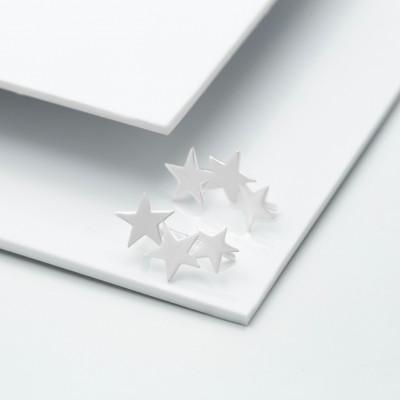 Серебряные серьги-каффы - Космос