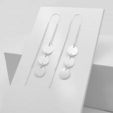 Срібні сережки - Три монетки