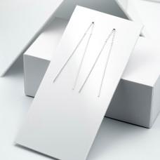 Срібні сережки - Палички