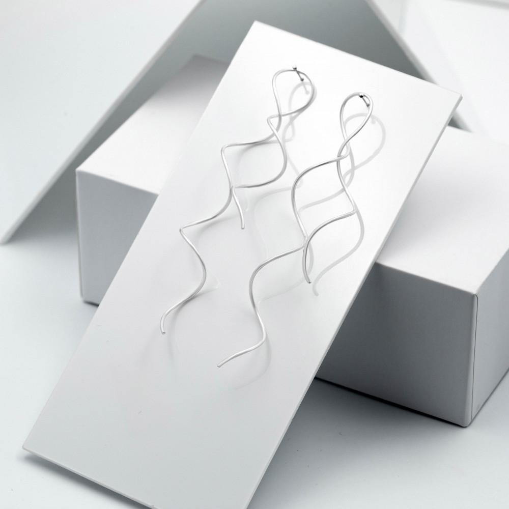 Срібні сережки - Пружинки