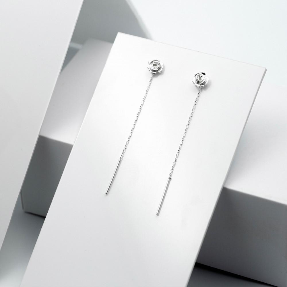 Срібні сережки - Трояндочка