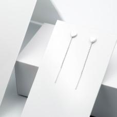 Срібні сережки - Сердечки