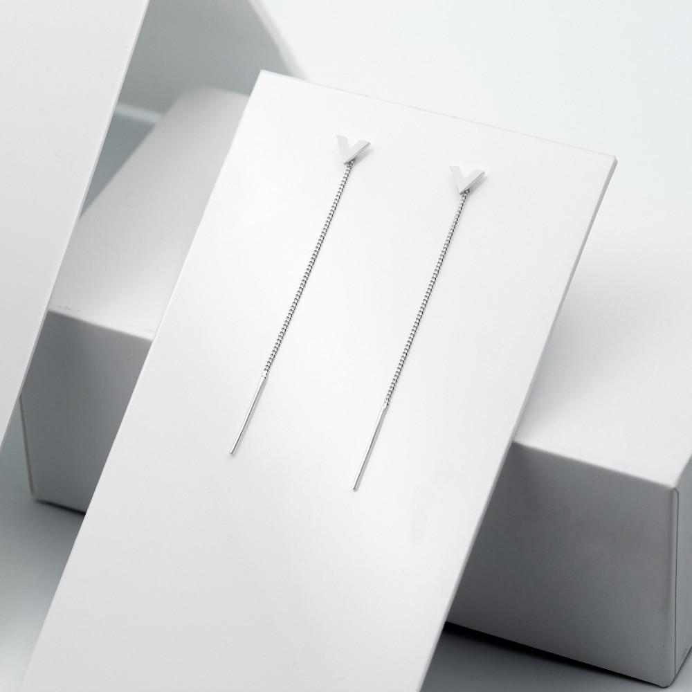 Срібні сережки - Вікторія
