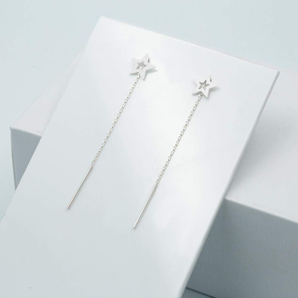 Срібні сережки - Зірочки