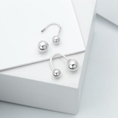 Серебряные серьги - Идеал