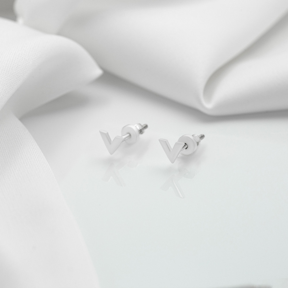 Срібні сережки - Вікторія (пусети)