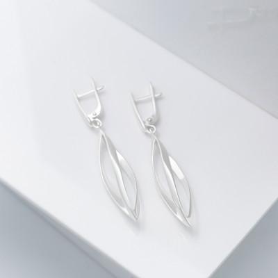 Серебряные серьги - Авалон