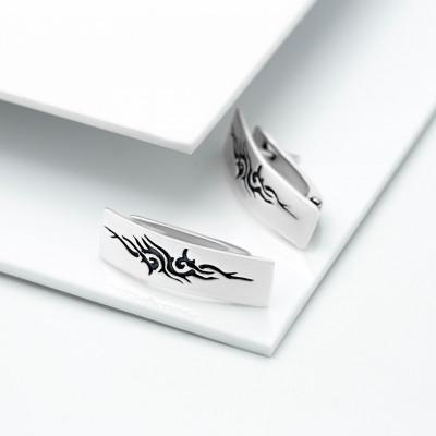 Серебряные серьги - Кельт