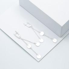 Срібні сережки - Монетки