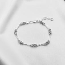 Срібний браслет - Мальвіна з вісімками