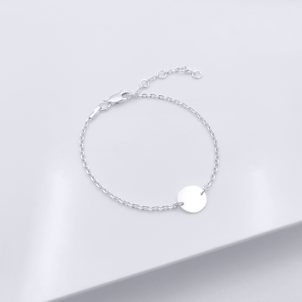 Срібний браслет - Монетка