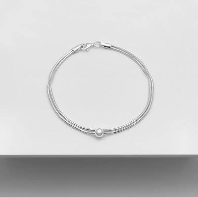Срібний браслет - Сфера снейк