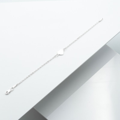 Срібний браслет - Сердечко